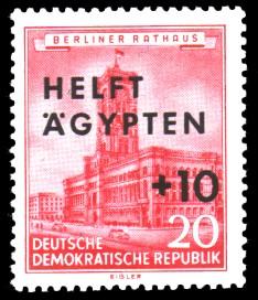 20 + 10 Pf Briefmarke: Helft Ägypten