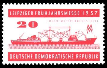 20 Pf Briefmarke: Leipziger Frühjahrsmesse 1957