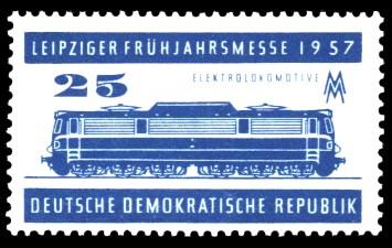 25 Pf Briefmarke: Leipziger Frühjahrsmesse 1957