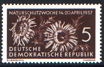 5 Pf Briefmarke: Naturschutzwoche 14-20 April 1957