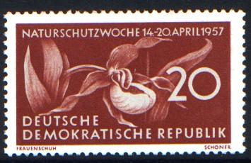 20 Pf Briefmarke: Naturschutzwoche 14-20 April 1957