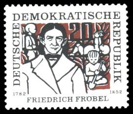 20 Pf Briefmarke: Friedrich Fröbel