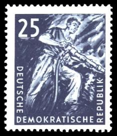 25 Pf Briefmarke: Kohlebergbau