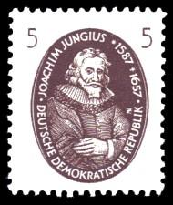 5 Pf Briefmarke: Berühmte Wissenschaftler, Joachim Jungius