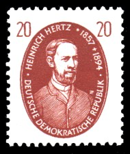 20 Pf Briefmarke: Berühmte Wissenschaftler, Heinrich Hertz