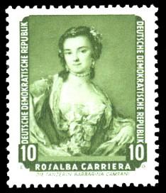 10 Pf Briefmarke: Dresdner Gemäldegalerie