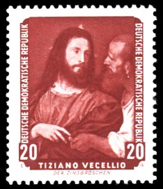 20 Pf Briefmarke: Dresdner Gemäldegalerie