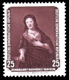 25 Pf Briefmarke: Dresdner Gemäldegalerie