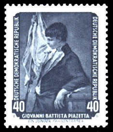 40 Pf Briefmarke: Dresdner Gemäldegalerie