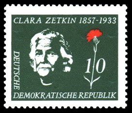 100 geburtstag clara zetkin briefmarke ddr. Black Bedroom Furniture Sets. Home Design Ideas