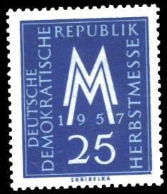 25 Pf Briefmarke: Leipziger Herbstmesse 1957