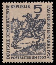 5 Pf Briefmarke: Tag der Briefmarke 1957