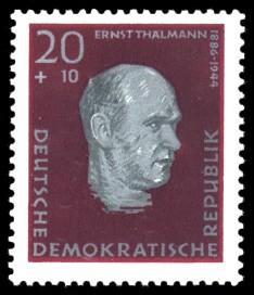 20 + 10 Pf Briefmarke: Antifaschisten, Ernst Thälmann