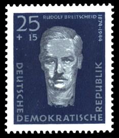 25 + 15 Pf Briefmarke: Antifaschisten, Rudolf Breitscheid