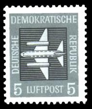 5 Pf Briefmarke: Luftpost - Flugpostmarken