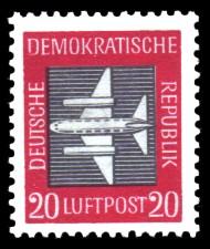 20 Pf Briefmarke: Luftpost - Flugpostmarken