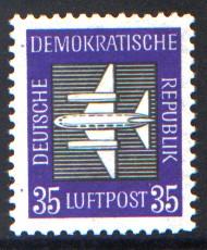 35 Pf Briefmarke: Luftpost - Flugpostmarken