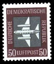 50 Pf Briefmarke: Luftpost - Flugpostmarken