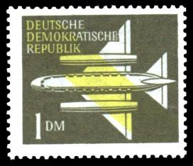 1 DM Briefmarke: Luftpost - Flugpostmarken