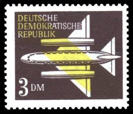 3 DM Briefmarke: Luftpost - Flugpostmarken