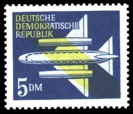 5 DM Briefmarke: Luftpost - Flugpostmarken