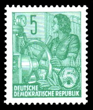 5 Pf Briefmarke: Freimarke Fünfjahresplan