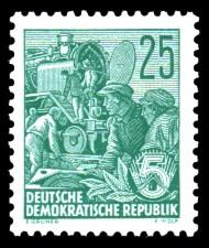 25 Pf Briefmarke: Freimarke Fünfjahresplan