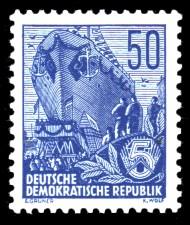 50 Pf Briefmarke: Freimarke Fünfjahresplan
