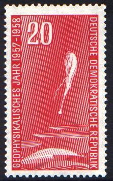 20 Pf Briefmarke: Geophysikalisches Jahr 1957-1958