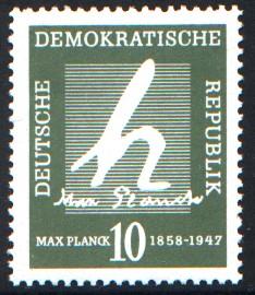 10 Pf Briefmarke: 100. Geburtstag Max Planck