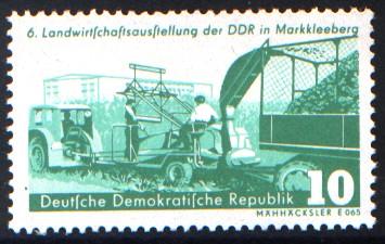 10 Pf Briefmarke: 6. Landwirtschaftsausstellung der DDR in Markkleeberg