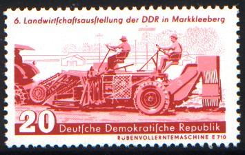 20 Pf Briefmarke: 6. Landwirtschaftsausstellung der DDR in Markkleeberg
