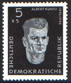 5 + 5 Pf Briefmarke: Antifaschisten, Albert Kuntz