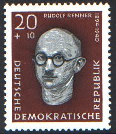 20 + 10 Pf Briefmarke: Antifaschisten, Rudolf Renner