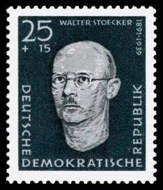 25 + 15 Pf Briefmarke: Antifaschisten, Walter Stoecker
