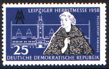 25 Pf Briefmarke: Leipziger Herbstmesse 1958