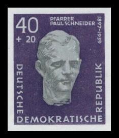 40 + 20 Pf Briefmarke: Antifaschisten, Paul Robert Schneider