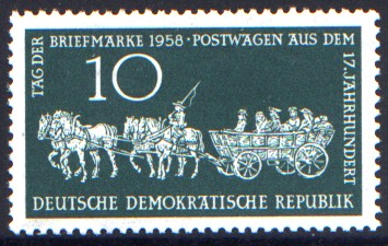 10 Pf Briefmarke: Tag der Briefmarke 1958