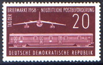 20 Pf Briefmarke: Tag der Briefmarke 1958