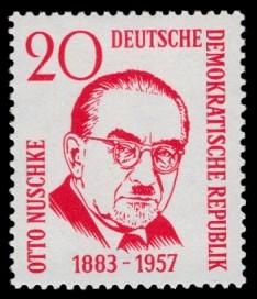 20 Pf Briefmarke: 1. Todestag Otto Nuschke