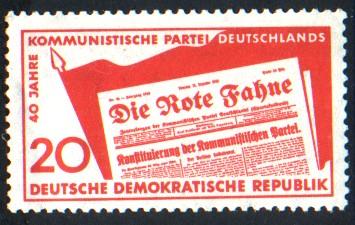 20 Pf Briefmarke: 40 Jahre Kommunistische Partei Deutschlands