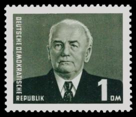 1 DM Briefmarke: Freimarke - Präsident Wilhelm Pieck