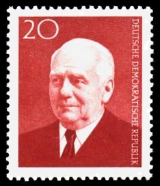 20 Pf Briefmarke: 83. Geburtstag Wilhelm Pieck