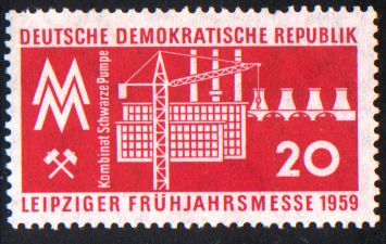 20 Pf Briefmarke: Leipziger Frühjahrsmesse 1959