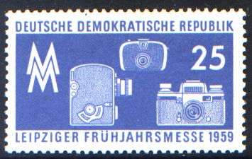 25 Pf Briefmarke: Leipziger Frühjahrsmesse 1959
