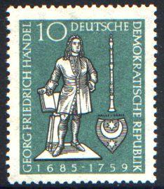 10 Pf Briefmarke: 200. Todestag Georg Friedrich Händel