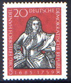 20 Pf Briefmarke: 200. Todestag Georg Friedrich Händel