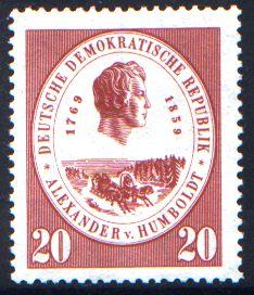20 Pf Briefmarke: 100. Todestag Alexander von Humboldt