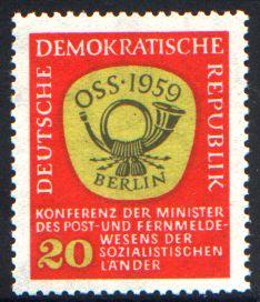 20 Pf Briefmarke: Konferenz der Minister des Post- und Fernmeldewesens der sozialistischen Länder