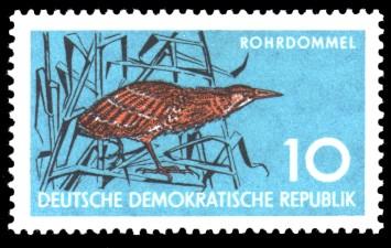 10 Pf Briefmarke: Naturschutz, Rohrdommel